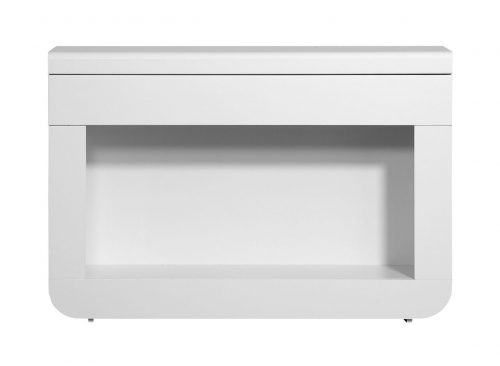 Floyd Console Table With Drawer & LED Lights White High Gloss 6