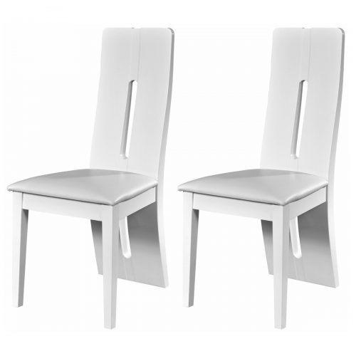 Floyd Dining Chair White High Gloss & Faux Leather