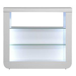 Floyd Sideboard White High Gloss Open Bar