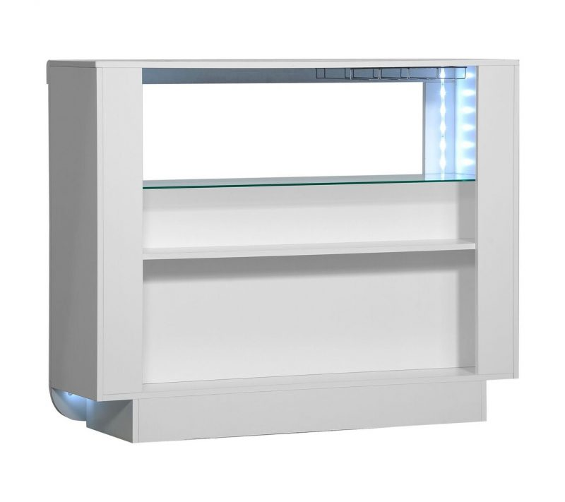 Floyd White Open Bar Sideboard