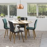 Frida Fabric Teal Dining Chairs 3