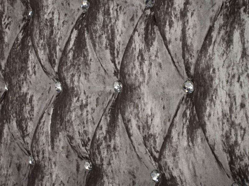 Gabriella Bed Frame Grey Crushed Velvet 3