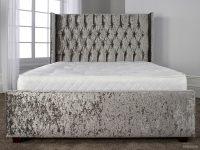 Gabriella Bed Frame Grey Crushed Velvet 2