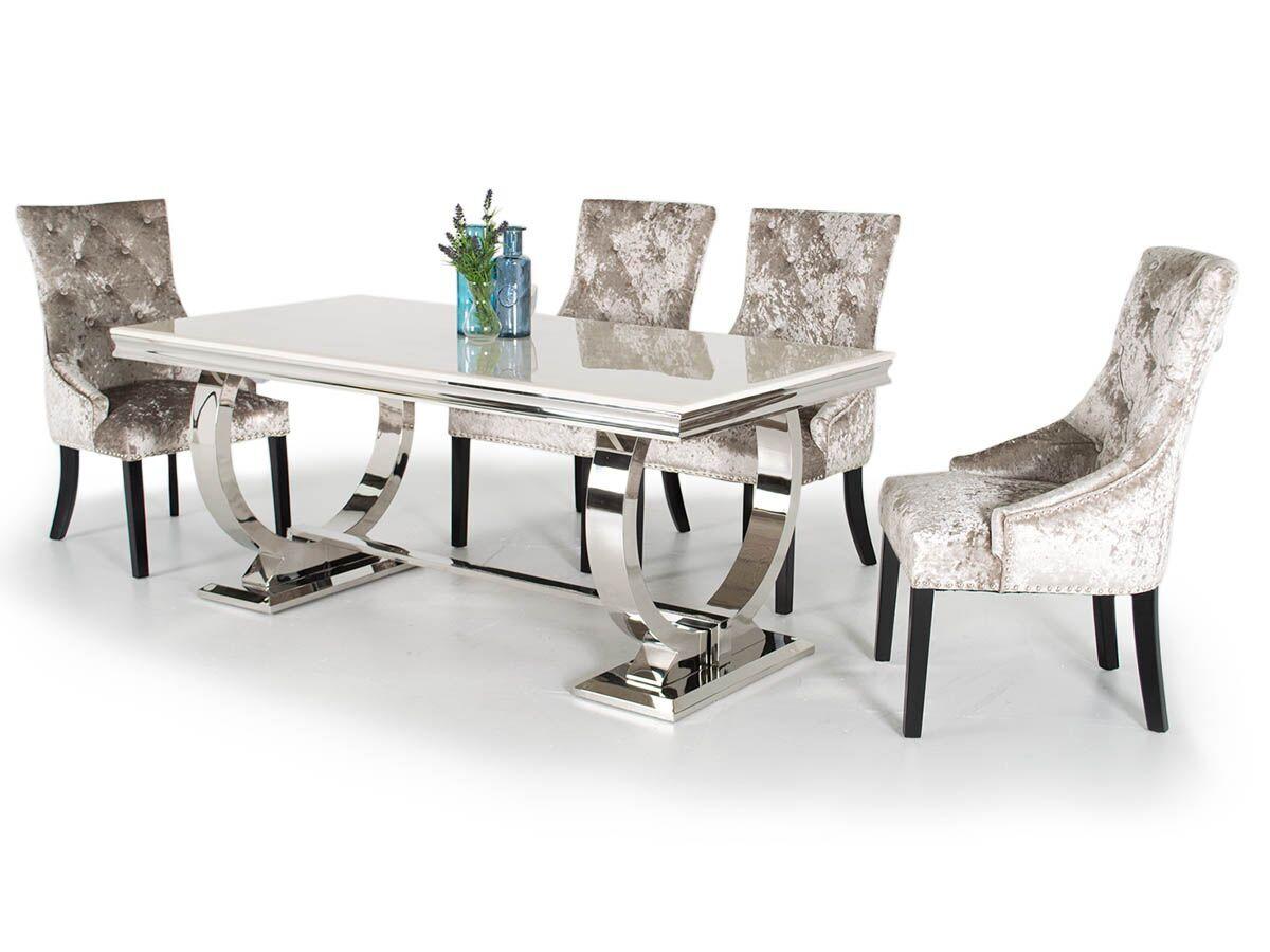 Grande Mink Crushed Velvet Chairs
