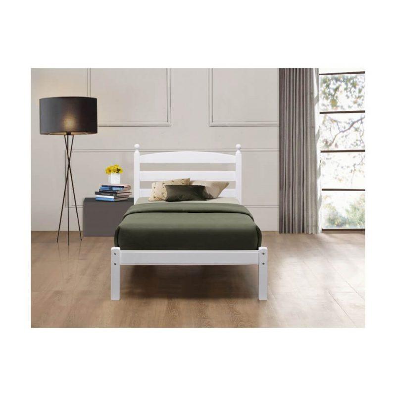 Halden Wooden Bed Frame White Gloss 23jpg
