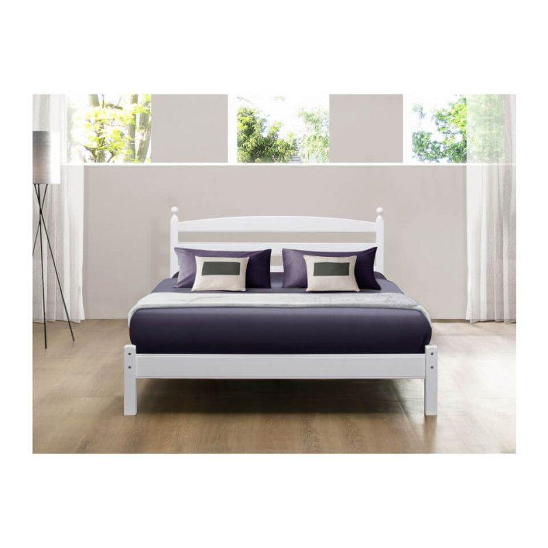 Halden Wooden Bed Frame White Gloss 4