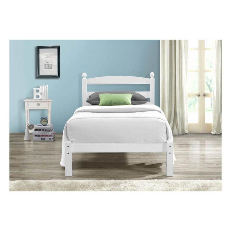 Halden Wooden Bed Frame White Gloss 8