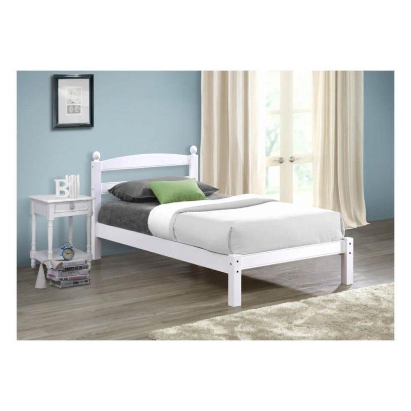 Halden Wooden Bed Frame White Gloss 9