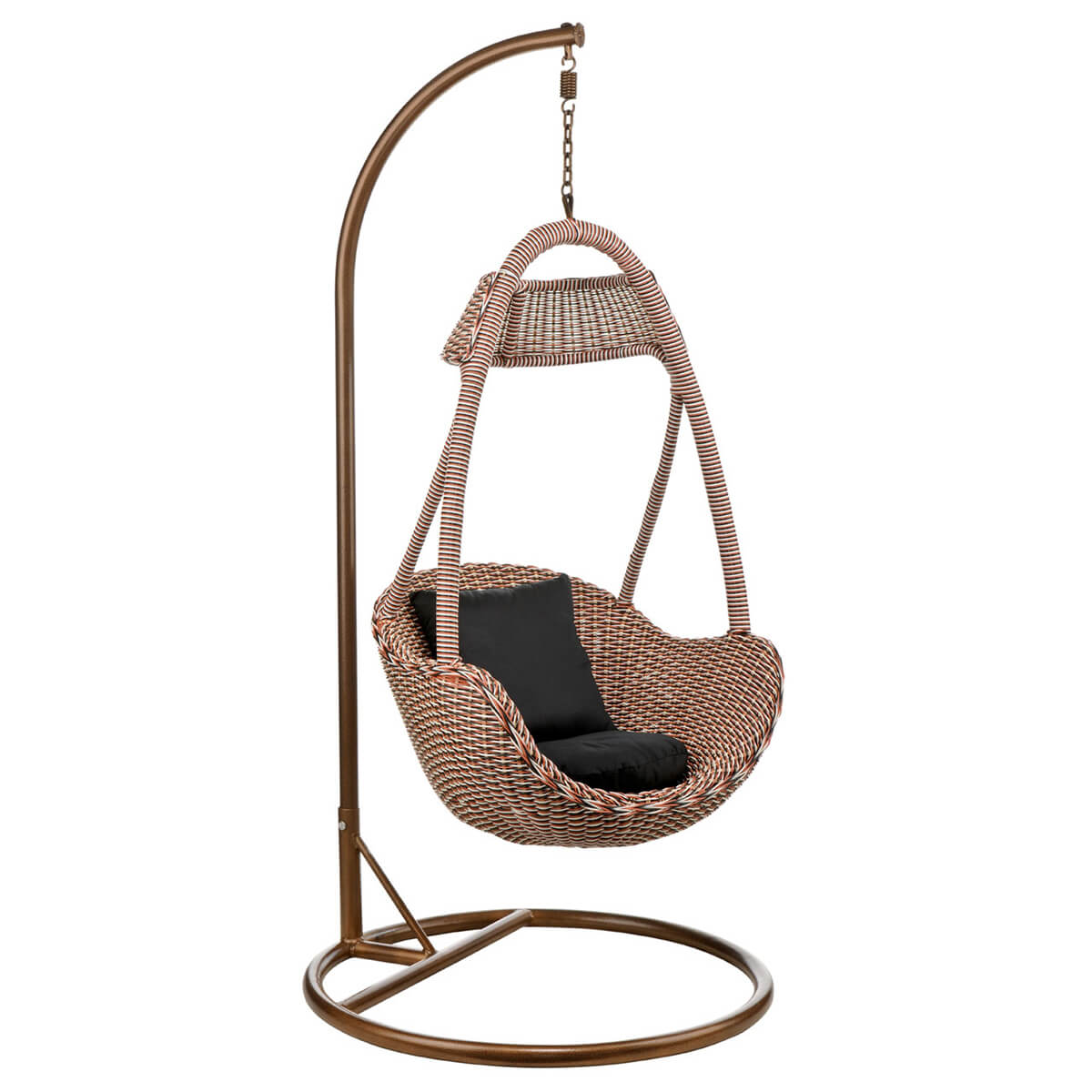 Basket Hanging Chair Natural Rattan Contemporary Living