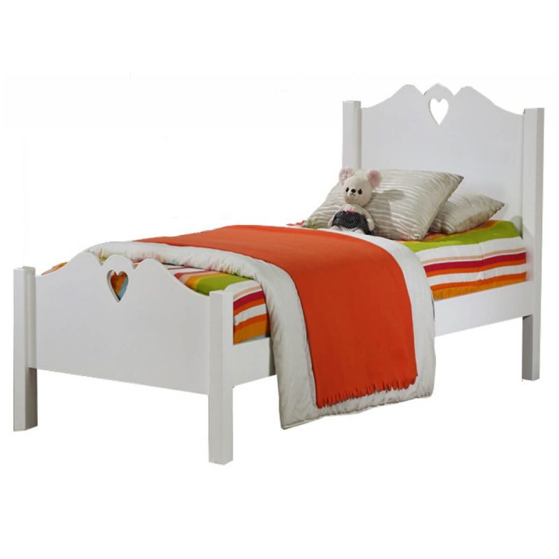 Holly White Wooden Single Bed Frame