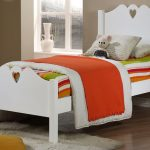 Holly White Wooden Single Bed Frame 2