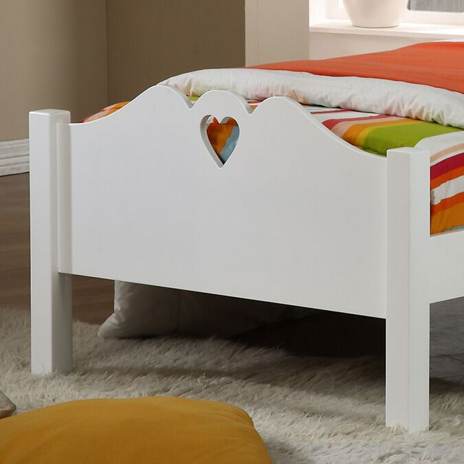 Holly White Wooden Single Bed Frame Footend