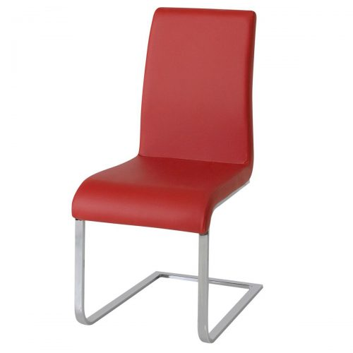 Hue Faux Leather Dining Chair Multi Coloured - Red