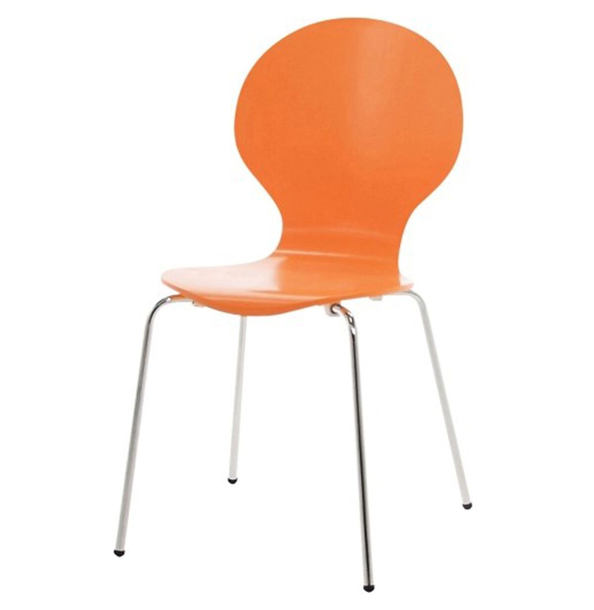 hugo birch molded multi coloured dining chair (single  various colours available) (colour: orange)