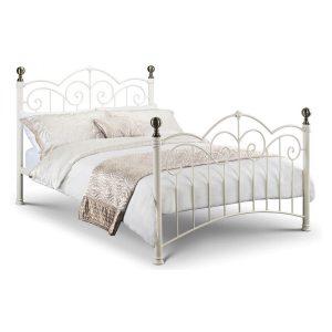 India Stone White Bed Frame