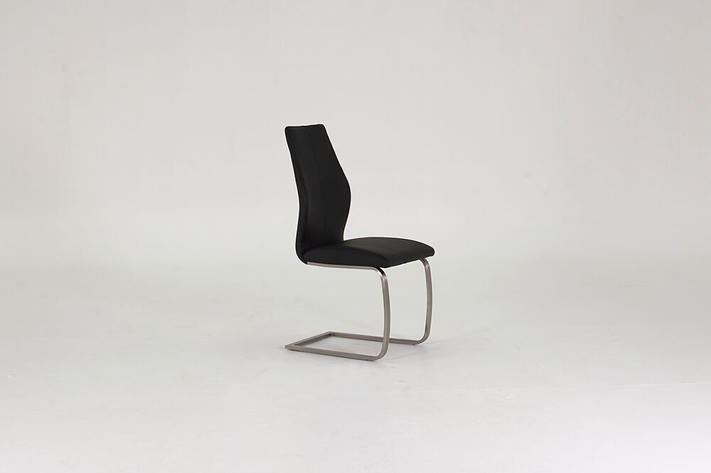 Irma Black Faux Leather Dining Chairs 1