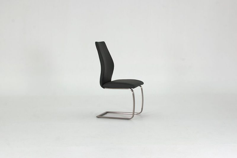 Irma Grey Faux Leather Dining Chairs 1