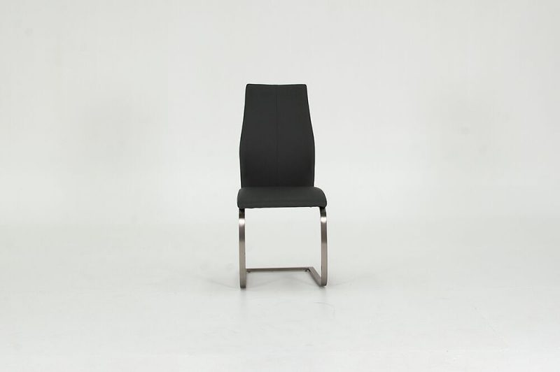 Irma Grey Faux Leather Dining Chairs 3