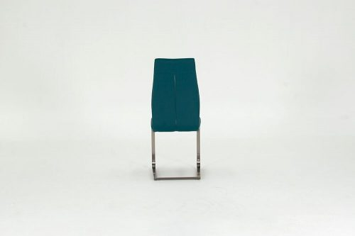 Irma Teal Faux Leather Dining Chairs 2
