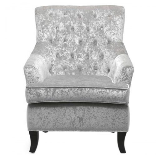 Jamestown Armchair Crushed Velvet Silver