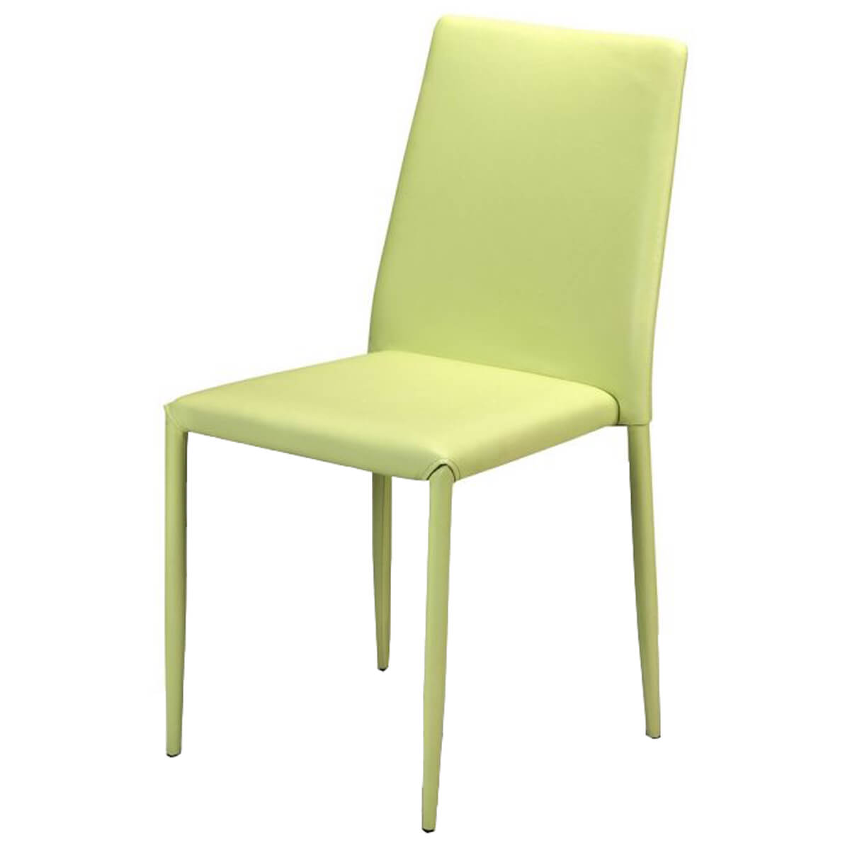 Jazz Stacking Chair Green Faux Leather