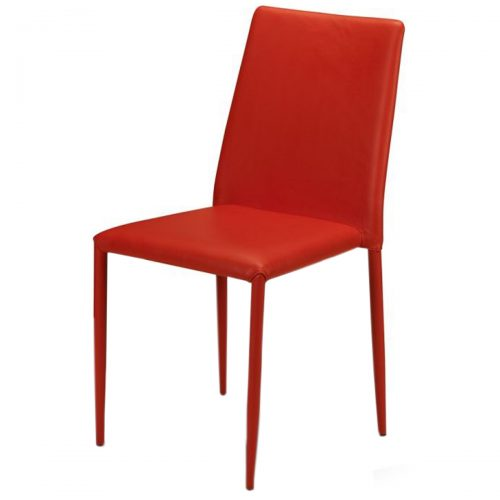 Jazz Stacking Chair Red Faux Leather