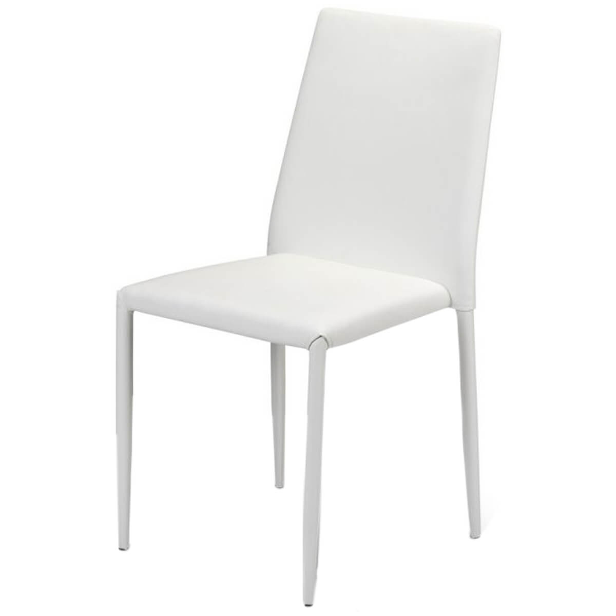 Jazz White Stackable Dining Chairs