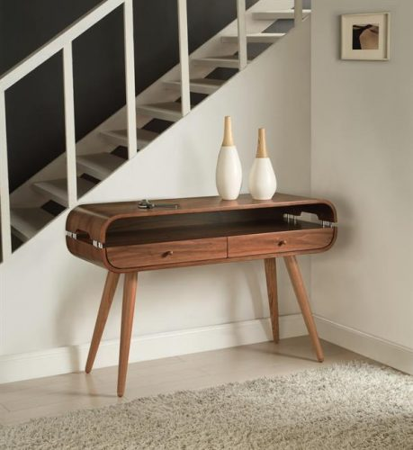 Jual Scandinavian Console Table Walnut 4