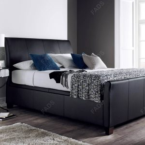 Kaydian Allendale Ottoman Bed Black Bonded Leather 2