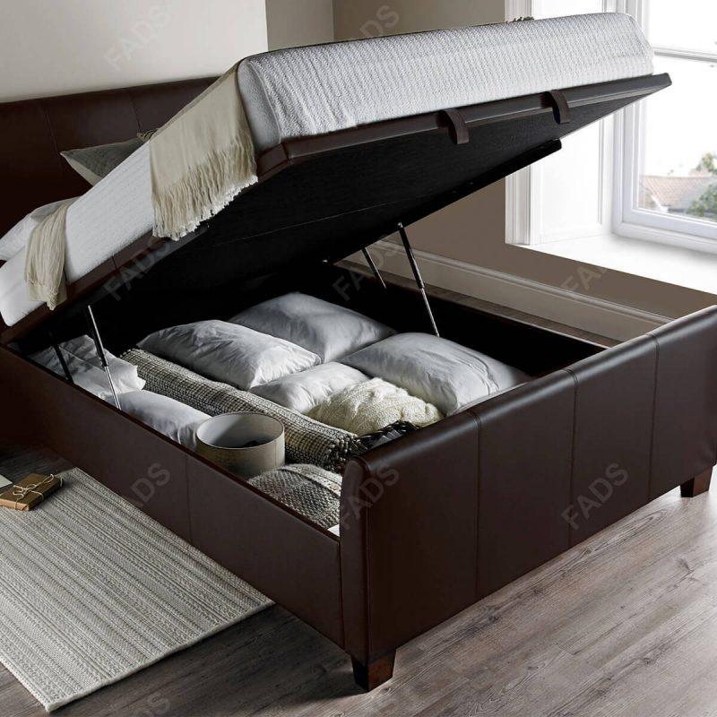 Kaydian Allendale Ottoman Bed Black Bonded Leather 5