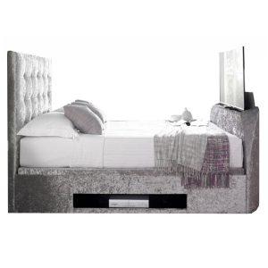 Kaydian Barnard TV Ottoman Crushed Velvet Bed