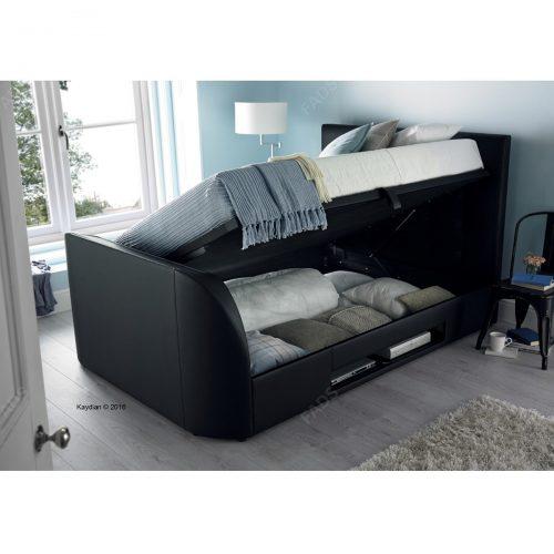 Kaydian Bernard TV Ottoman Storage Bed Bonded Leather 3