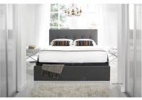 Kaydian Hexham Storage Bed With Drawer Fabric Smoke Grey 2