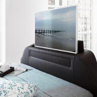 Kaydian Maximum TV Media Black Leather Bed 2