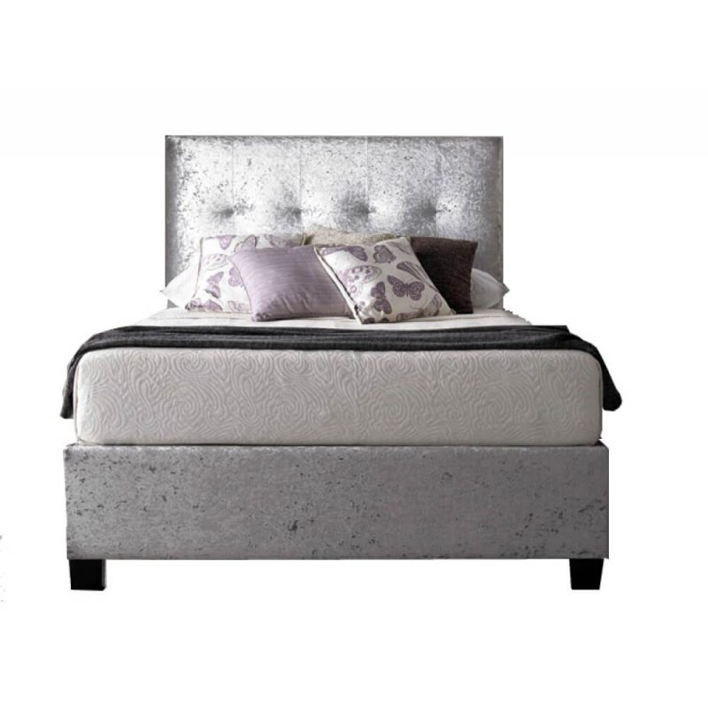 Kaydian Walkworth Ottoman Storage Bed Crushed Silver 1