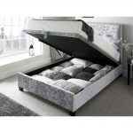 Kaydian Walkworth Ottoman Storage Bed Crushed Silver 2