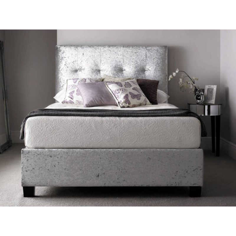 Kaydian Walkworth Ottoman Storage Bed Crushed Silver 3