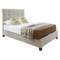 Kaydian Walkworth Ottoman Storage Bed Oatmeal Fabric