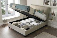 Kaydian Walkworth Ottoman Storage Bed Oatmeal Fabric 3