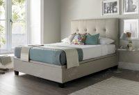 Kaydian Walkworth Ottoman Storage Bed Oatmeal Fabric 2