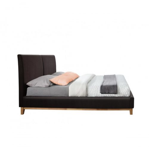 Kemi Bed Frame Brown Faux Leather 2