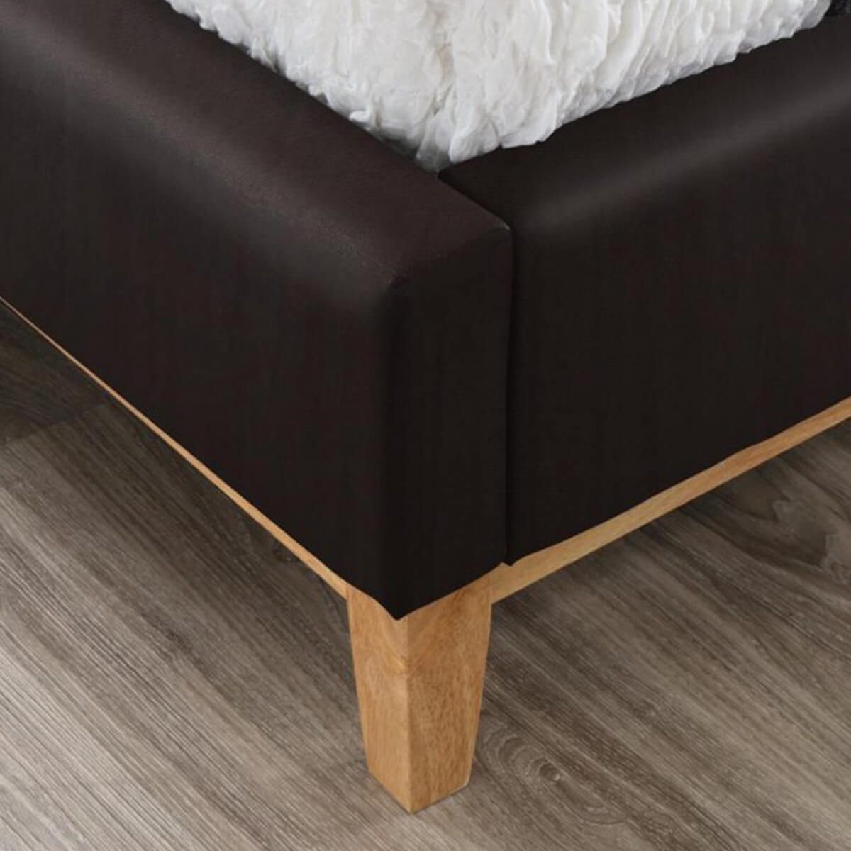 Kemi Bed Frame Brown Faux Leather 5