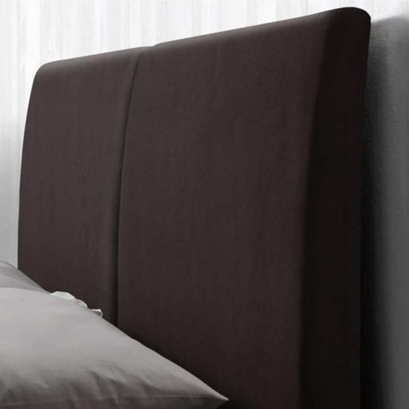 Kemi Bed Frame Brown Faux Leather 6
