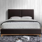 Kemi Bed Frame Brown Faux Leather 7