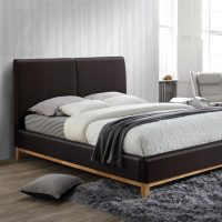 Kemi Bed Frame Brown Faux Leather 9