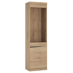 Kensington Display Cabinet Oak Tall 2 Door