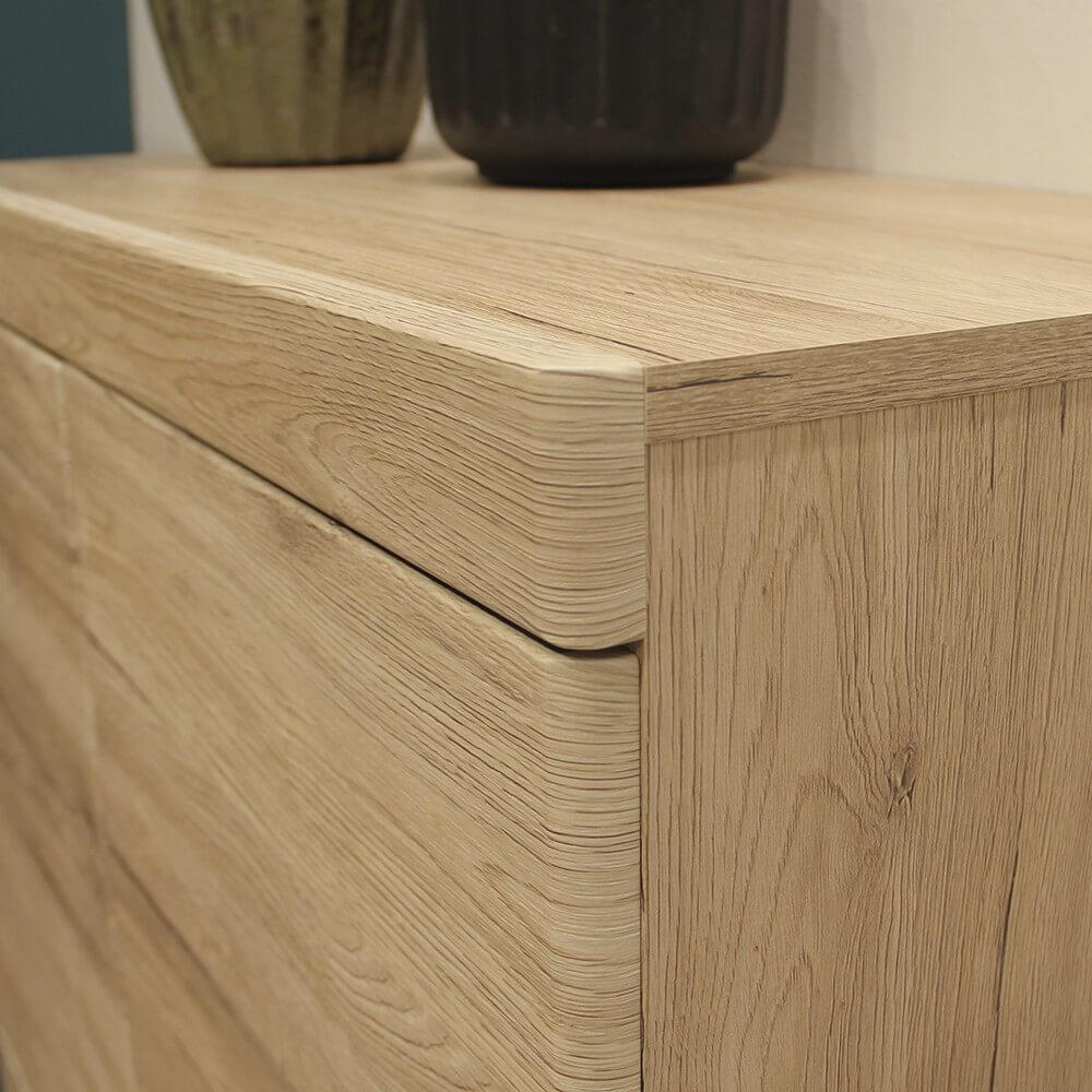 Kensington Tall Oak Display Cabinet 3