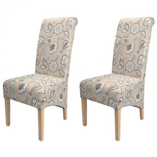 Krista Deco Dining Chairs Duck Egg Blue Fabric