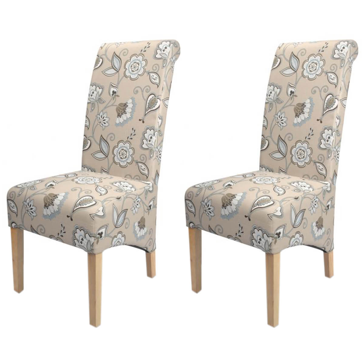 Krista deco fabric duck egg blue dining chairs free delivery fads - Deco lounge blue duck ...