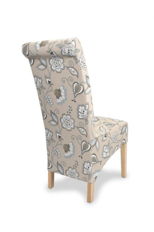 Krista Deco Fabric Duck Egg Blue Dining Chairs 3